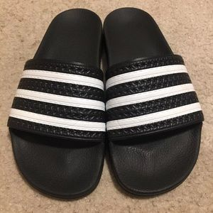 "Adidas Originals ""Adilette"" Slides - Black Size 7"